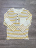 Yellow Stripe Henley Shirt