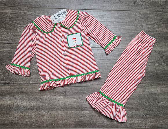 Santa's Coming Smocked Girls Set