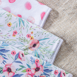 Floral Baby Burp Cloth Set - 3 Pack