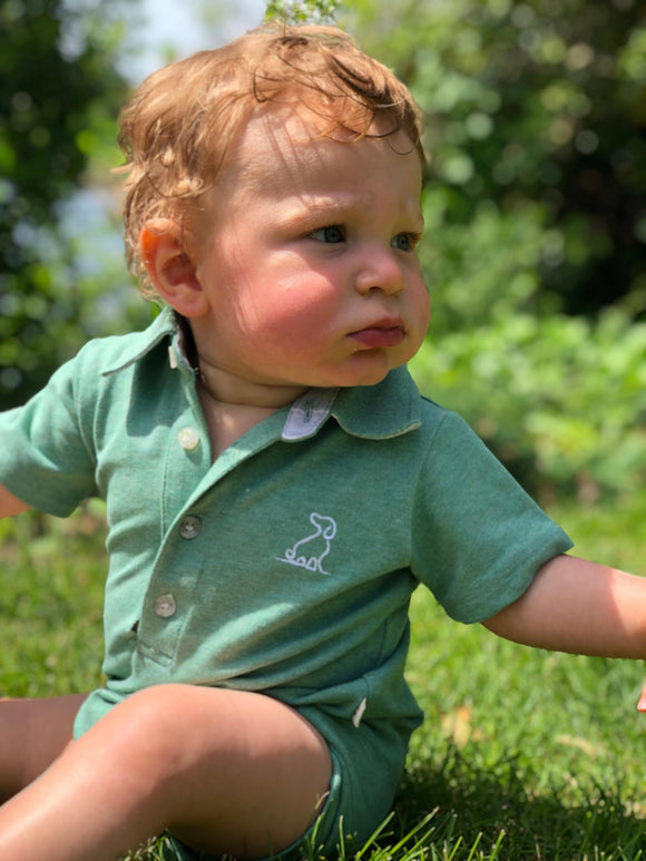 Green Polo Romper