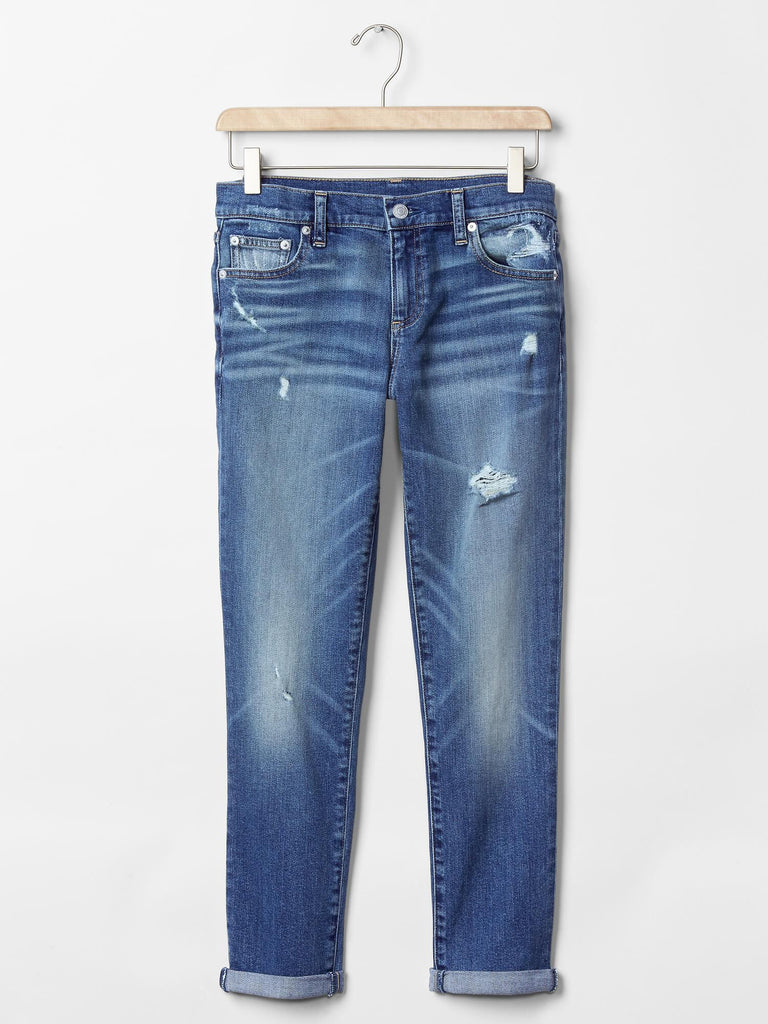 Gap mid rise destructed best girlfriend jeans - Dippla.Shop