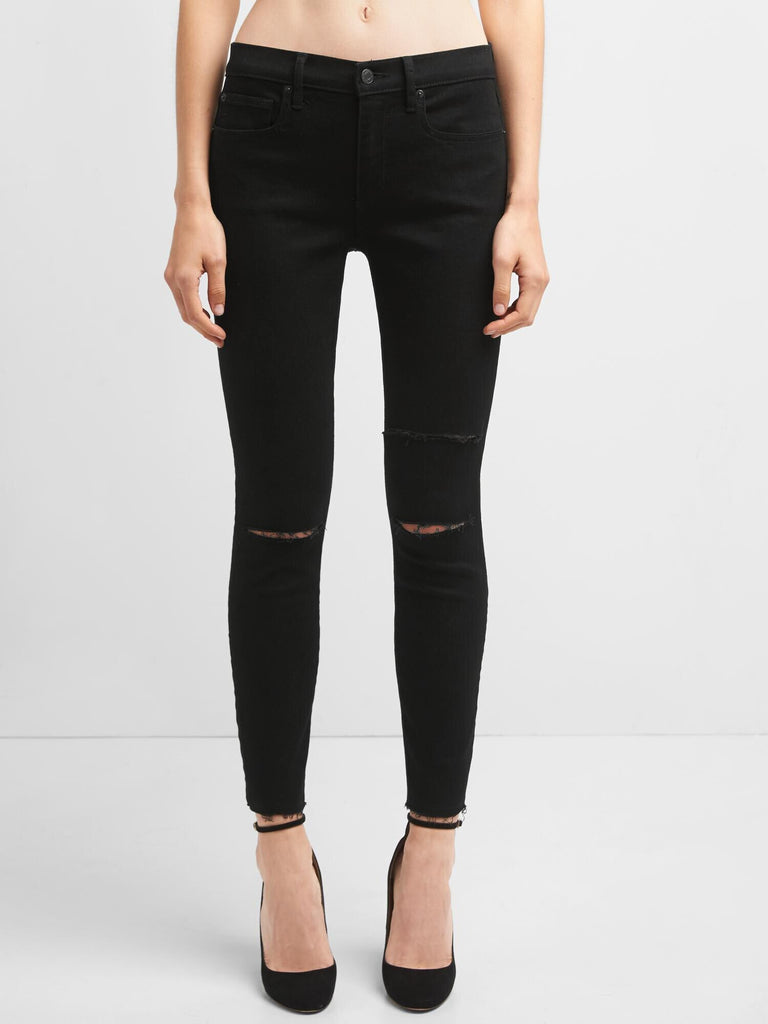 Gap mid rise destructed true skinny ankle jeans - Dippla.Shop