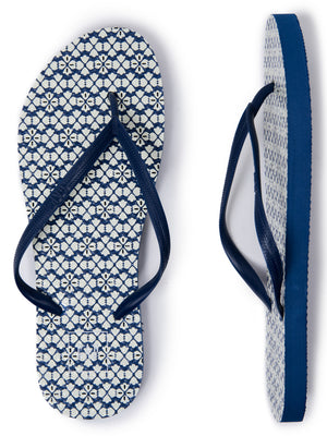 GAP - Blue Patterned Flip Flops - Dippla.Shop