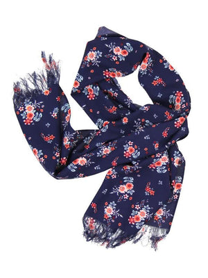 Scarf with decorated flowers print - Dippla.Shop