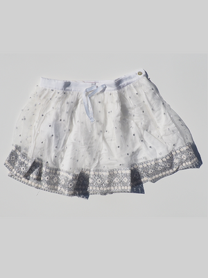White Boboli Tiered Skirt (8 yrs) - Dippla.Shop