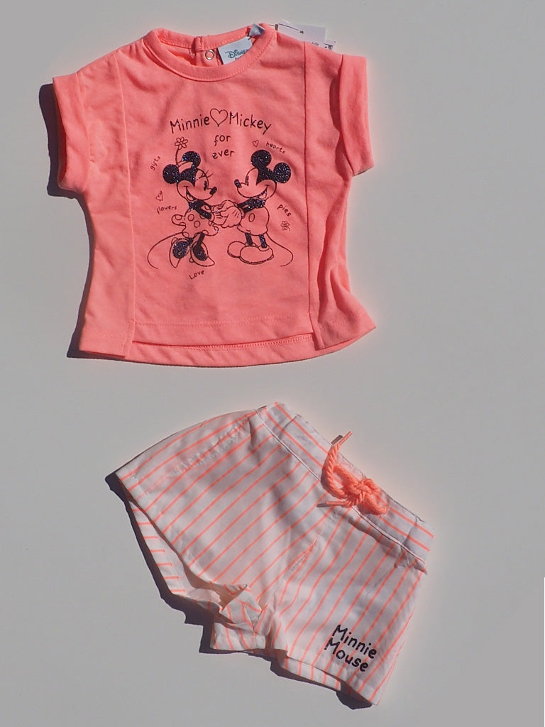 Disney Minnie & Mickey Mouse Short Sleeve Top & Shorts Set - Dippla.Shop