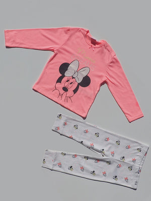 Pink-White Minnie Mouse Disney Nightwear - Dippla.Shop