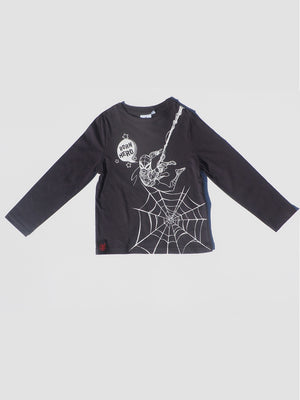 Marvel Long Sleeve Black Spider Man T-Shirt - Dippla.Shop