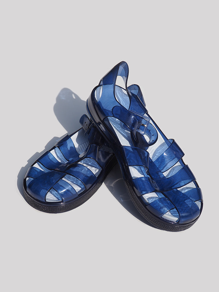 ZY Transparent Blue Jelly Sandals (EU 30) - Dippla.Shop