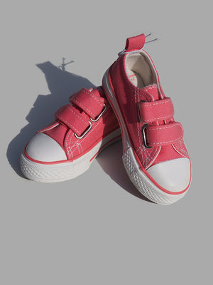 ZY Baby Girl Glitter 2 Velcro Red Trainers (EU 20) - Dippla.Shop