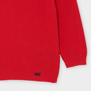 Red Baby Boy Cotton Sweater