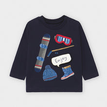 Load image into Gallery viewer, Navy Snowboard and Ski Shirt