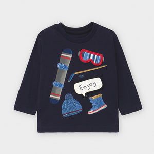 Navy Snowboard and Ski Shirt