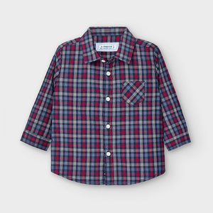 Blue Poplin Boys Shirt