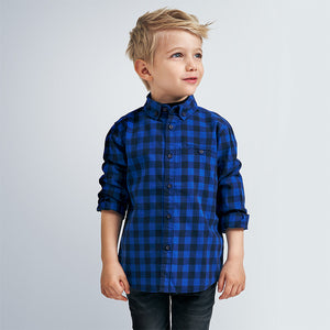 Blue Checked Button Down Flannel