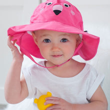 Load image into Gallery viewer, Zoocchini Sun Hat - Flamingo