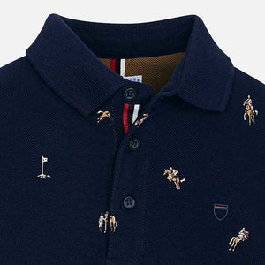L/S Printed Polo Shirt - Mayoral
