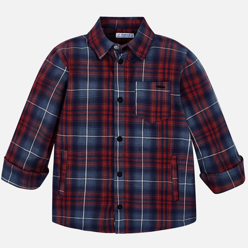 Red Plaid Lined Overshirt - Mayoral