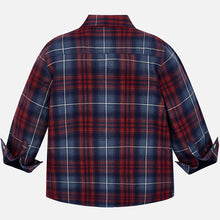 Load image into Gallery viewer, Red Plaid Lined Overshirt - Mayoral