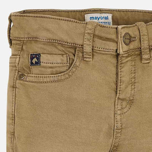 Soft Slim Fit Dark Khaki Pants - Mayoral