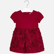 Load image into Gallery viewer, Red Holiday Dress with Lace Embroidered overlay - Mayoral