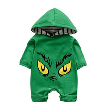 Load image into Gallery viewer, The Grinch' Hooded Romper