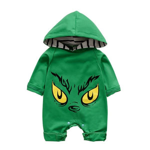 The Grinch' Hooded Romper