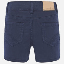 Load image into Gallery viewer, Navy Twill Baby Shorts