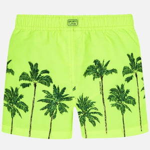 Neon Palm Swim Trunks