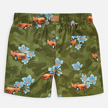 Load image into Gallery viewer, Boys Tropical Car Swim Trunks