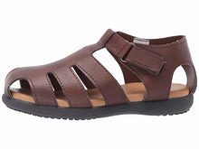 Load image into Gallery viewer, Brown Textured Fisherman's Sandal