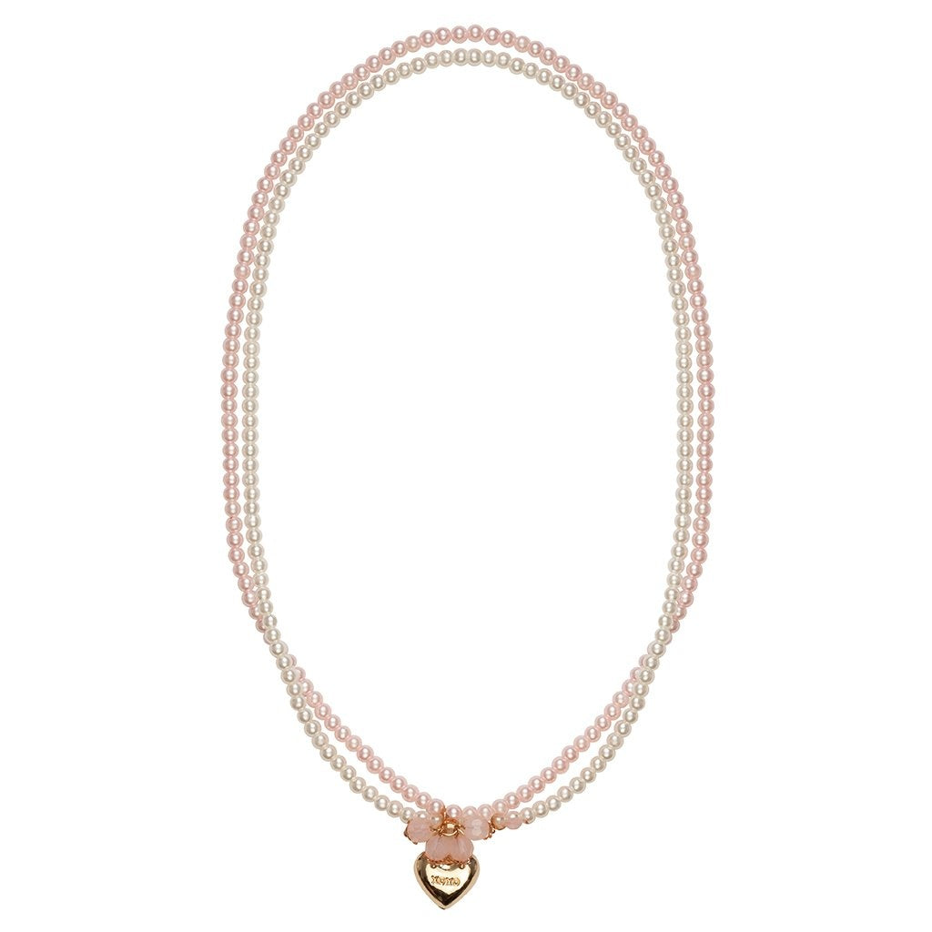 Pearly Pearls 2 Strand Locket Necklace
