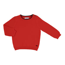 Load image into Gallery viewer, Red Baby Boy Cotton Sweater