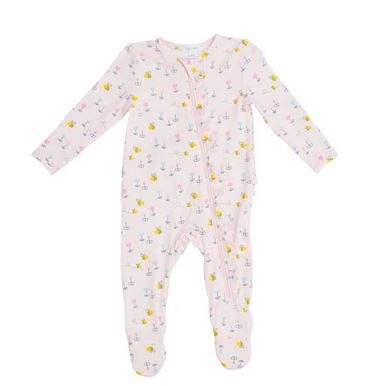 Little Bee Ruffle Zipper Footie
