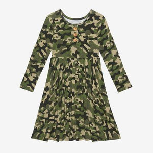 Posh Peanut- Cadet Henley Twirl Dress