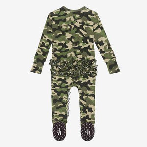Posh Peanut- Cadet Ruffled Zipper Footie