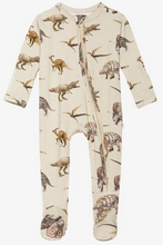 Load image into Gallery viewer, Posh Peanut- Vintage Dino Zippered Footie