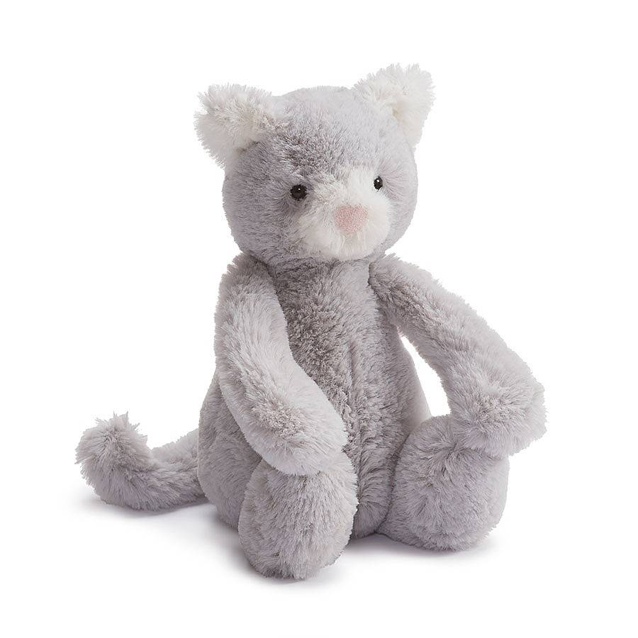 Bashful Grey Kitty- Medium