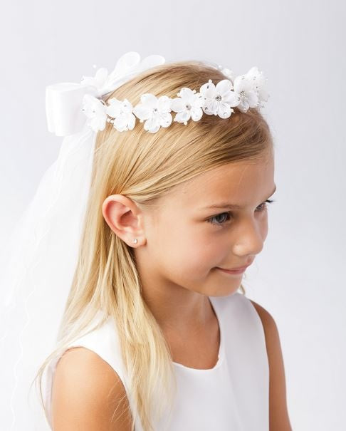 Rhinestoned Flower Crown veil