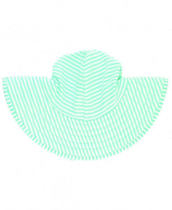 Mint Seersucker swim hat
