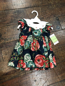 Rose romper w/ collar