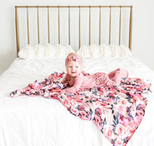 Load image into Gallery viewer, Posh Peanut - Bamboo & Muslin Swaddle - Dusk Rose