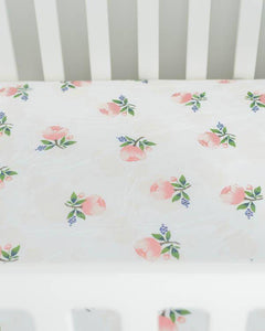 Little Unicorn Cotton Muslin Crib Sheet- Watercolor Roses