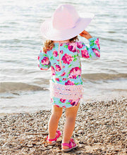 Load image into Gallery viewer, Rufflebutts Life is Rosy One Piece Rash Guard