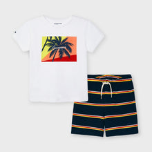 Load image into Gallery viewer, Boys Stripe Sunset 2pc Short Set