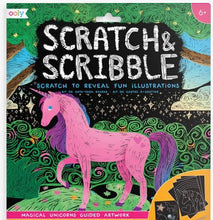 Load image into Gallery viewer, Scratch & Scribble Art Kits: Magical Unicorns