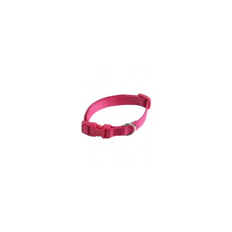 Collar ajustable nylon 15mmx33-40cm, rosa
