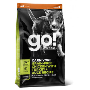 GO! CARNIVORE Grain Free Chicken, Turkey + Duck Puppy Dog 10kg