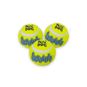 Kong squeaker tennis ball medium pack 3un