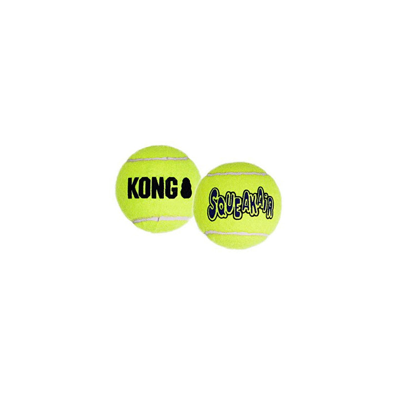 Kong squeaker tennis ball large pack 2un